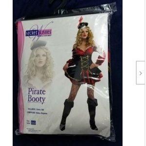 Pirate Booty Costume Halloween Adult Dress Hat M